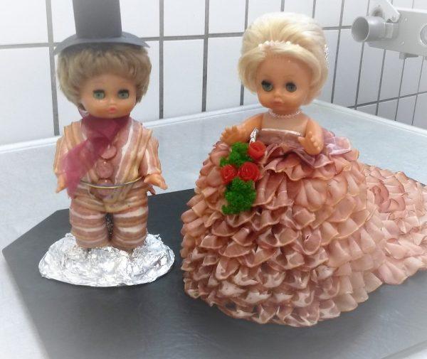 verheiratet Torte aus wurst